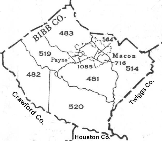 Map Of Georgia Militia Districts.Georgia Militia Districts For Bibb County Georgia