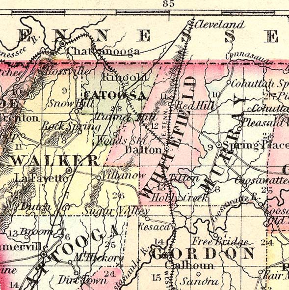 Map Of Georgia 1865.Maps